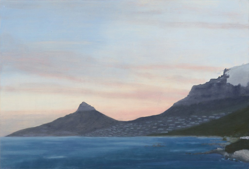 View from Chapman's Peak Drive across Table Bay towards Lion's Head and Table Mountain